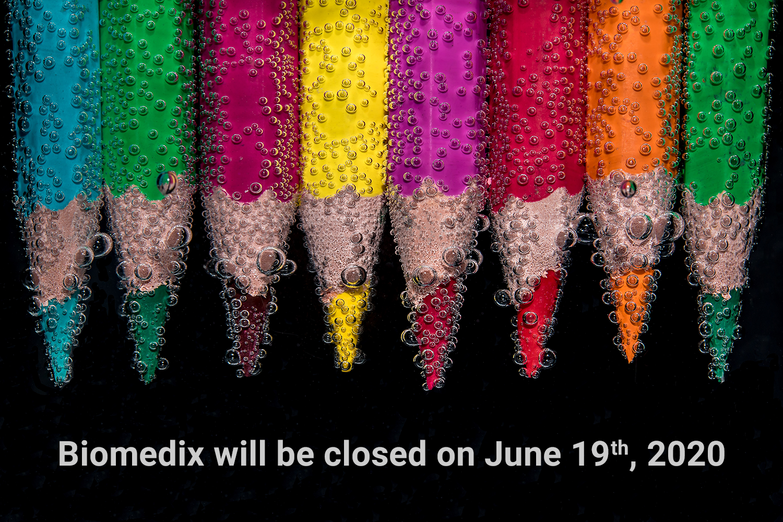 Biomedix will be closed on June 19th, 2020