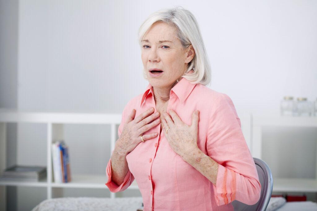 Senior female with COPD