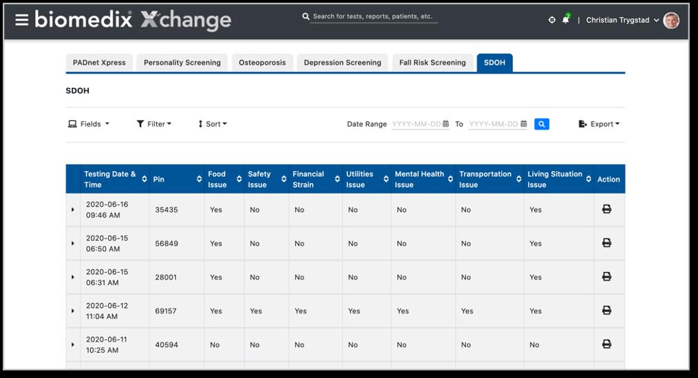 Biomedix Xchange screenshot